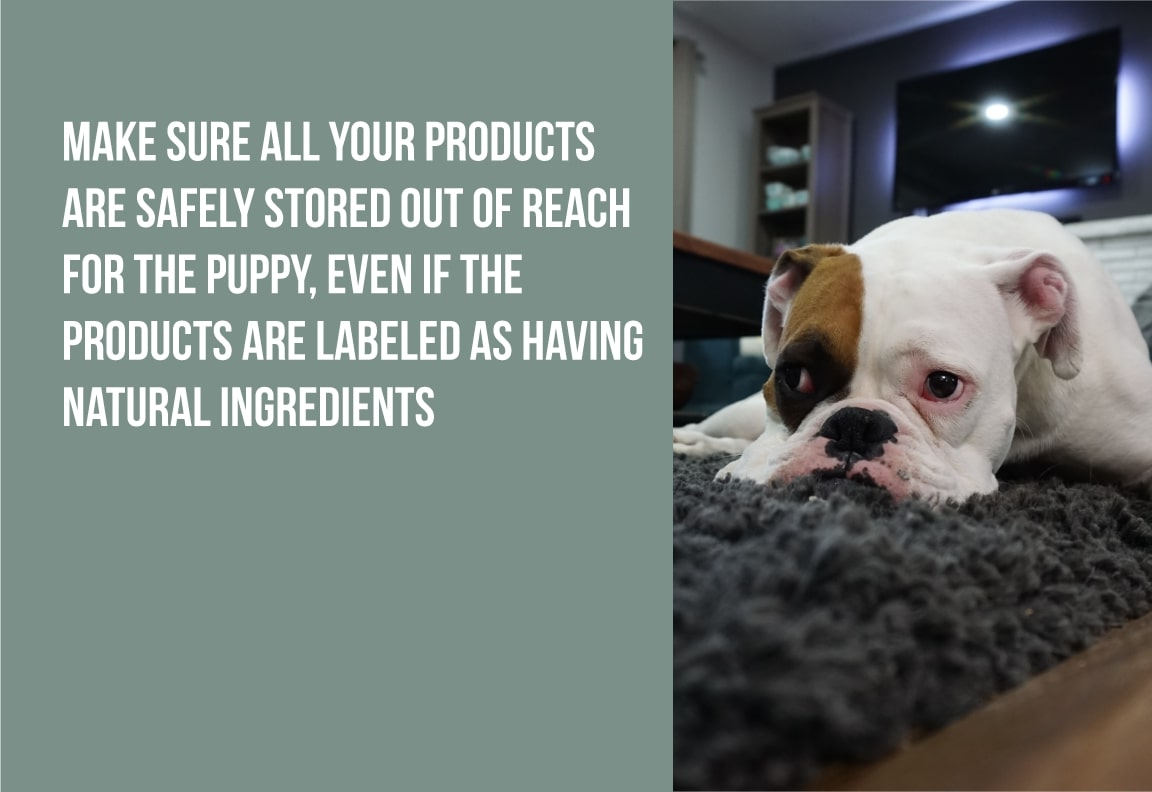make sure all your products are safely stored
